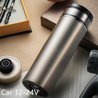 Water Heat Mug Electric Thermos Flasks 350ml for Car+home/ Automatic  Heating Water