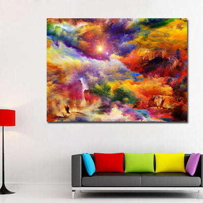 CF-06 bright colors house rock Wall Art Painting For Living Room
