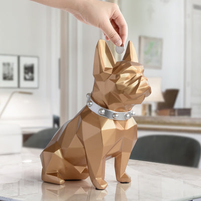 home decorations cute coin bank box resin Dog statue home decor