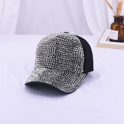 luxury pearl Sequins Baseball Cap For Summer Cotton Hat