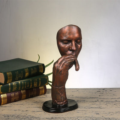 Smoking a cigar Portrait of Sculpture Resin Figurines Not Hear/talk/see Study Room Decor Accessories