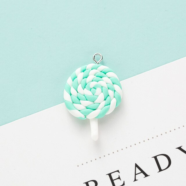 Cream Lollipop Charm | Handmade