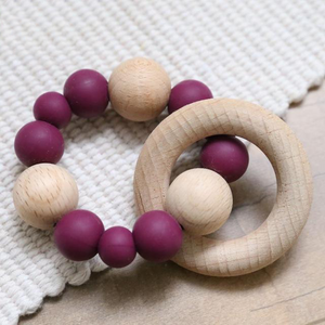 Open image in slideshow, The Grace Teething Ring | 8 Color Options - PillowCrib.com