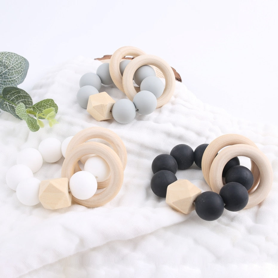 The Elle Teething Ring | 3 Color Options - PillowCrib.com