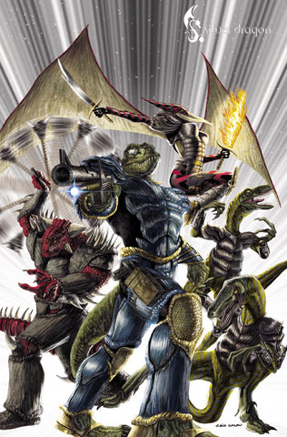 Jurassic Strike Force 5 - Art Print 3