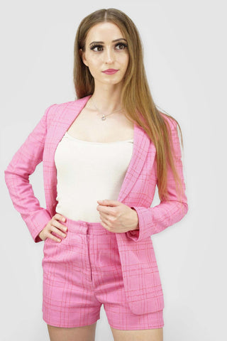 Blazers | Candy Plaid Long Blazer_1 | Style & Suit