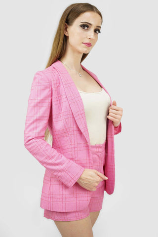 Blazers | Candy Plaid Long Blazer_2 | Style & Suit