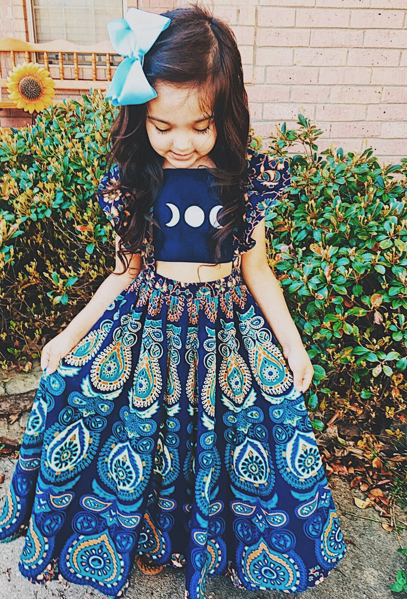 6-8 Years Moonchild Maxi Dress-Ready to ship