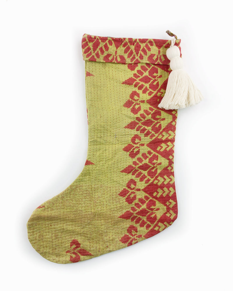 Kantha Tassel Holiday Stockings