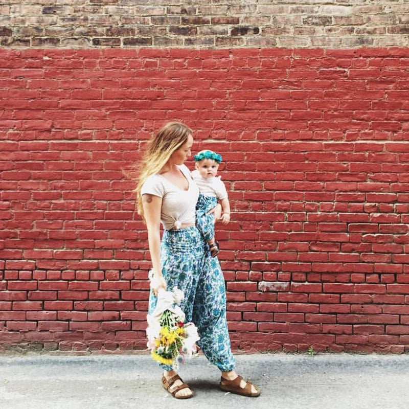 Mommy light-weight block print baggy harem pants