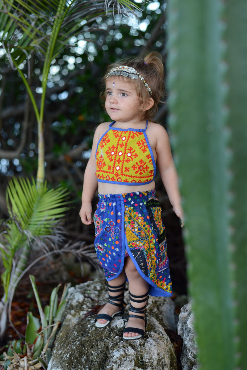 3-5 Years, Tulip Skirted Bloomer Set