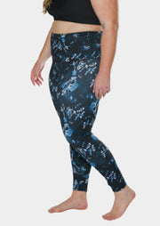 essential full length tight - Print blue