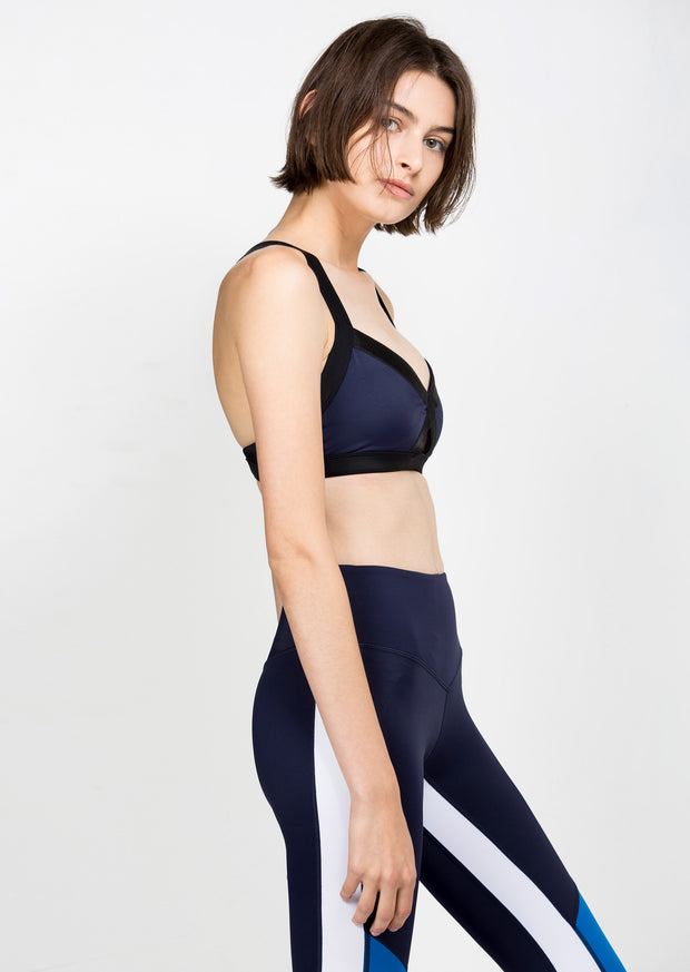 Twist & Turn Bra - Navy
