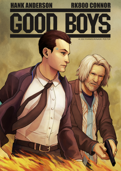 Hank and Connor Poster