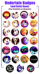 Undertale (and Delta Rune) Badges