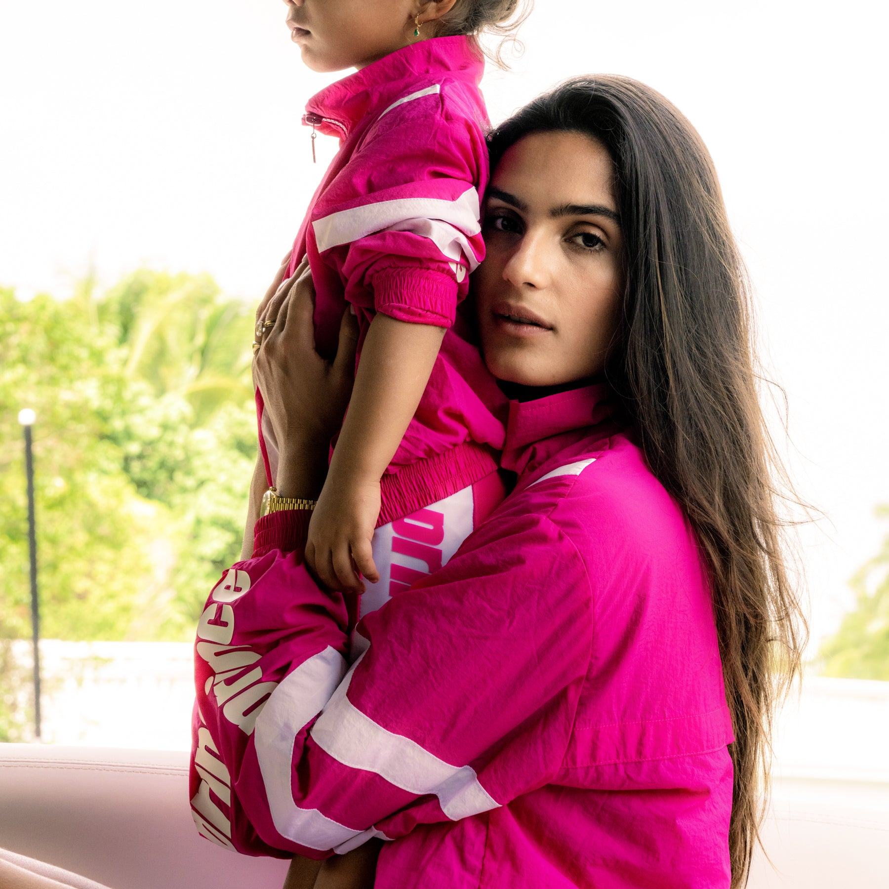 PINK  Tennis TRACK SUITS for Mom and Daugther