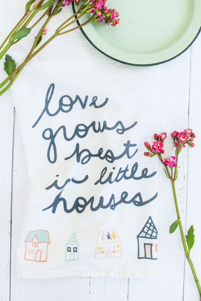 Little Houses - Tea Towel