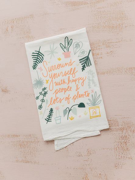 Happy People & Plants - Tea Towel