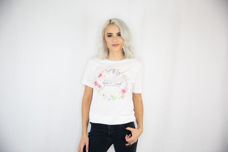 Flower Crown Unisex Triblend Tee- White