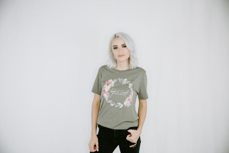 Flower Crown Unisex Triblend Tee- Olive