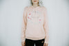 Flower Crown Unisex Pullover Fleece Hoodie- Peach