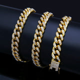 Full Iced Out Miami Cuban Chain Necklace 50-75cm Length