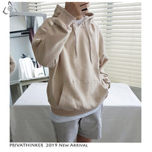 Load image into Gallery viewer, Privathinke 2019 Autumn Warm Men Fleece Hoodies 9 Colors Male Streetwear Thicken Hooded Sweatshirts Casual Loose Hoodies 5XL