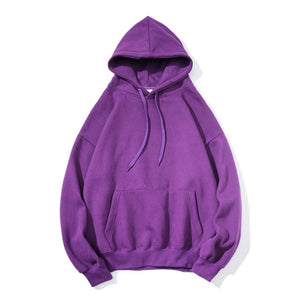 Privathinke 2019 Autumn Warm Men Fleece Hoodies 9 Colors Male Streetwear Thicken Hooded Sweatshirts Casual Loose Hoodies 5XL