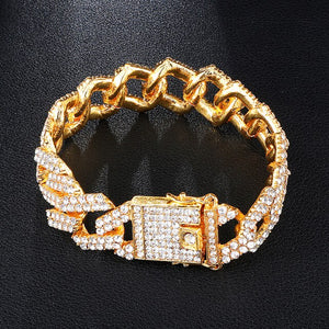19Mm Iced Out Cuban Link Bracelet