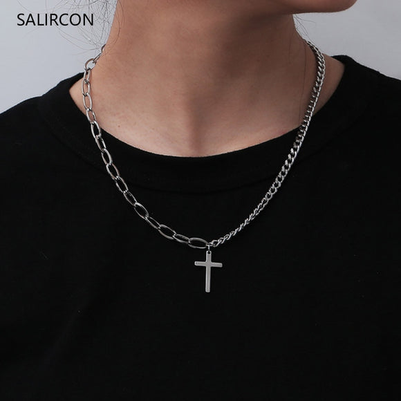 Salircon Cross Pendant Necklace