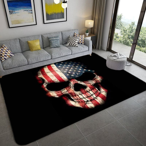 Abstract skull non-slip carpets