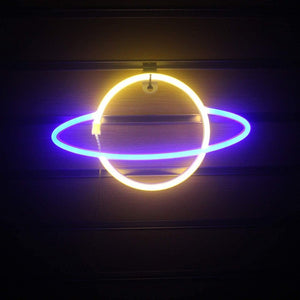 Neon Planet Sign