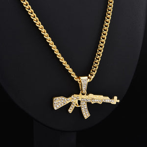 Iced Out Ak-47 Chain & Pendant