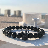 Mcllroy Black Stone Crown Bracelet