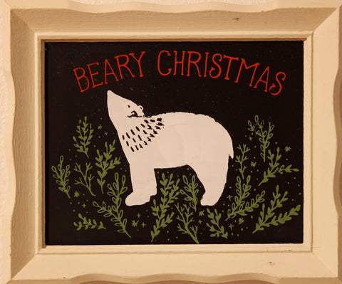 Beary Christmas sign