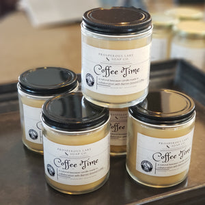 Coffee Time Beeswax Candle