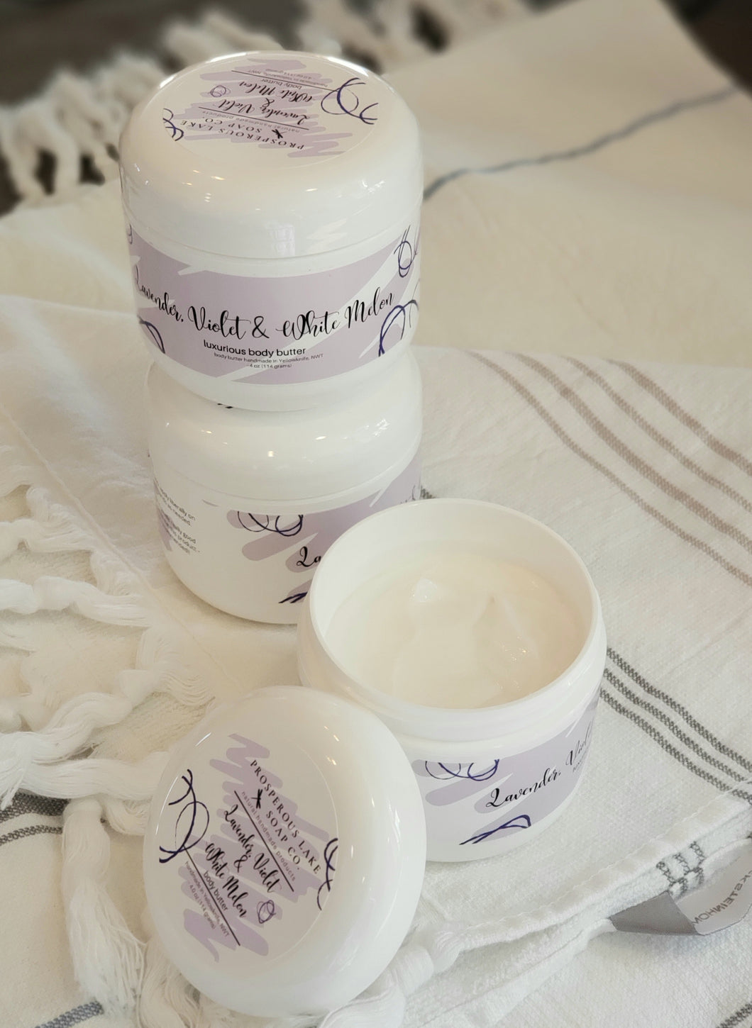 Lavender, Violet and White Melon Body Butter