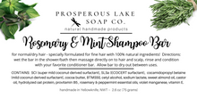 Load image into Gallery viewer, Rosemary & Mint Shampoo Bar
