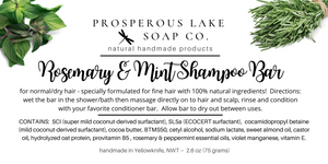 Rosemary & Mint Shampoo Bar