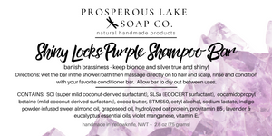 Shiny Locks Purple Shampoo Bar