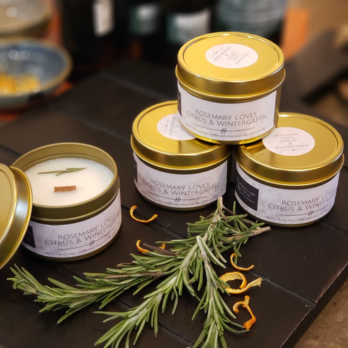 Rosemary loves Citrus & Wintergreen - Coconut/Soy Candle