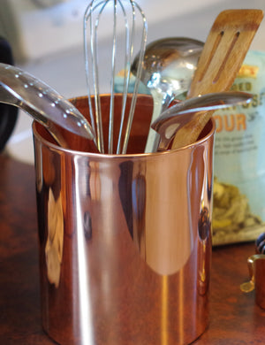 Copper Kitchen Utensil Crock