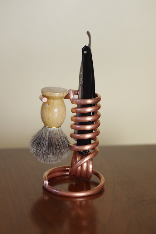 Copper Razor/Toothbrush Holder