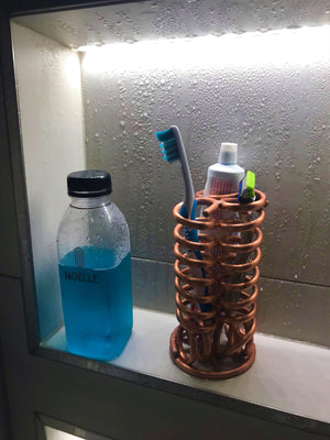Double Copper Razor/Toothbrush Holder