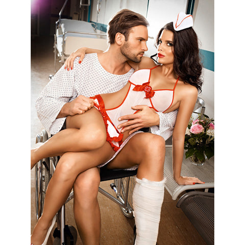 Baci - Candy Nurse Set One Size-Ligar Seduction