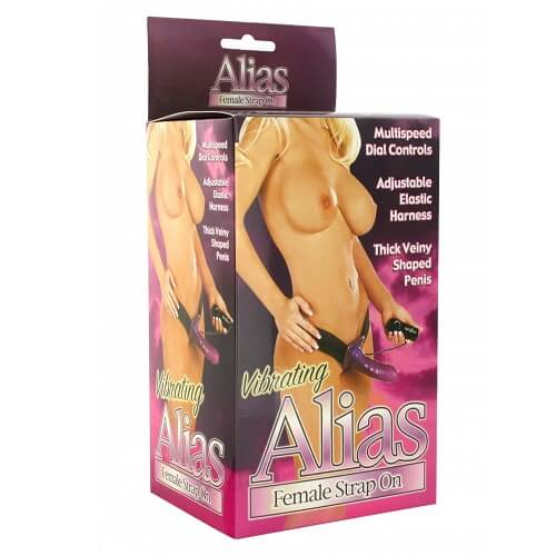 Alias Vibrating Female Strap On-Sex Toys-Ligar Seduction
