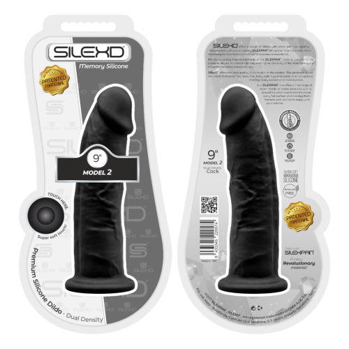 9 inch Realistic Girthy Silicone Dual Density Dildo with Suction Cup Black - Ligar Seduction