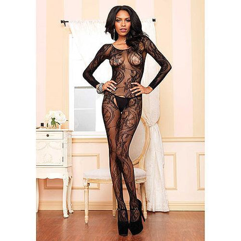 Leg Avenue Swirl Lace Bodystocking-Lingerie-Ligar Seduction