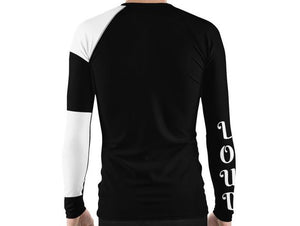 Black & Proud Men's Rash Guard
