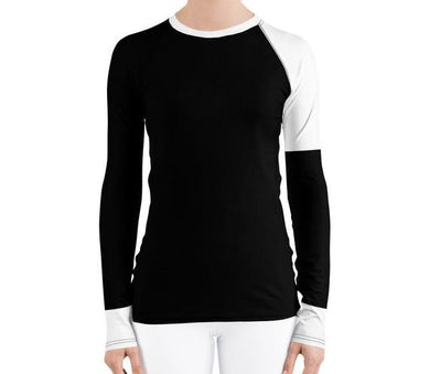 Black & White Women's Rash Guard